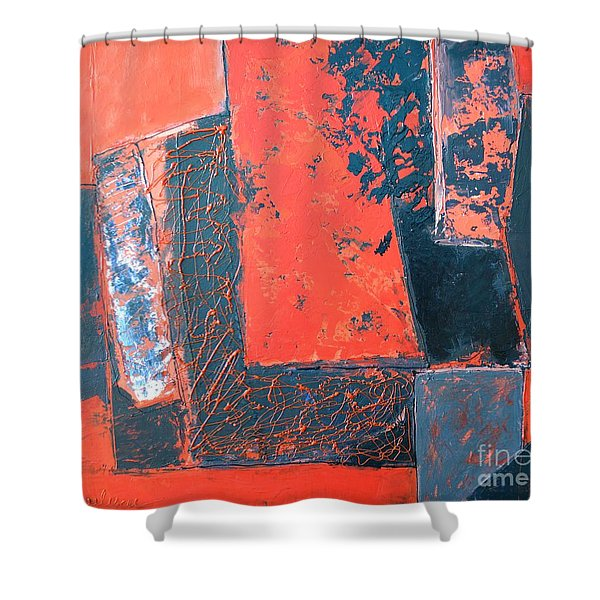 The Ludic Trajectories Of My Existence Shower Curtain by Ana Maria Edulescu