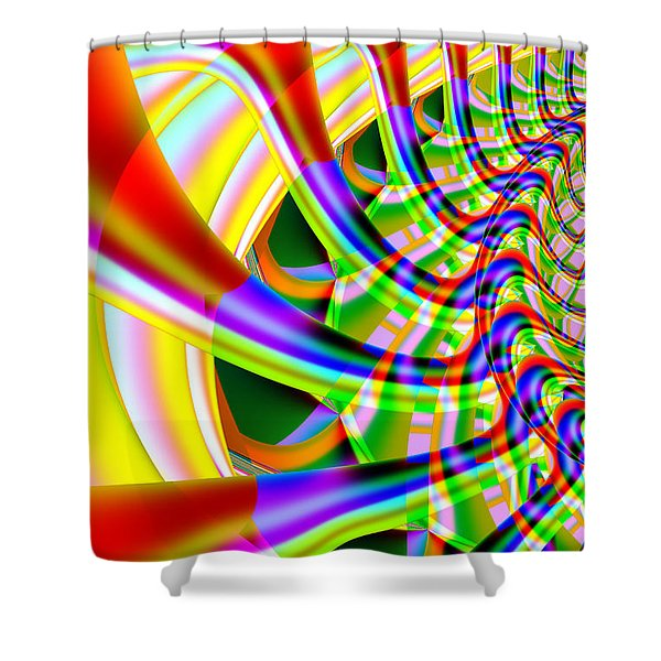 The Marching Band . Vertical . S14 Shower Curtain by Wingsdomain Art and Photography