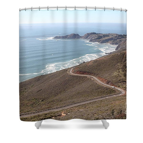 The Marin Headlands - California Shoreline - 5D19593 Shower Curtain by Wingsdomain Art and Photography