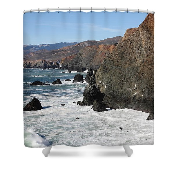 The Marin Headlands - California Shoreline - 5D19692 Shower Curtain by Wingsdomain Art and Photography