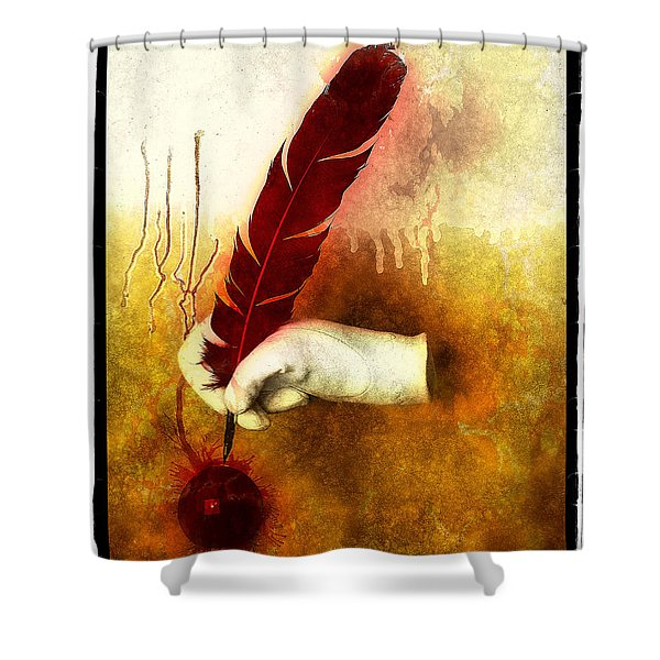 The Mystery Shower Curtain by Mauro Celotti