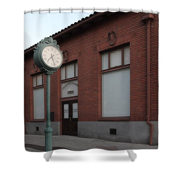 The Old Banker's Building - 5d18429 Shower Curtain by Wingsdomain Art and Photography