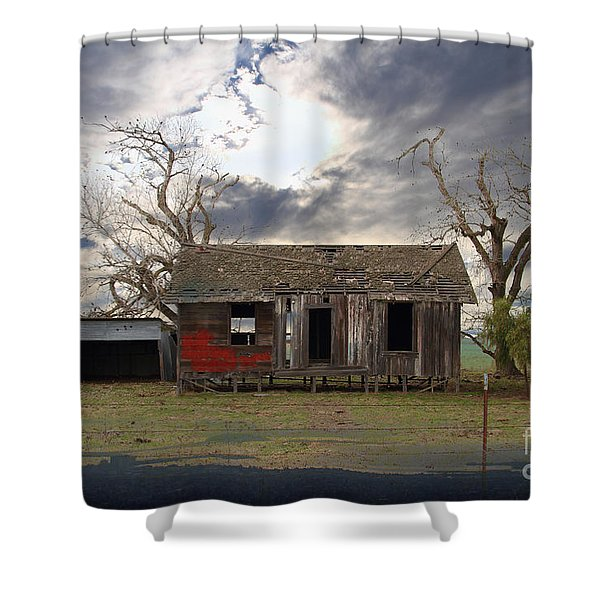 The Old Farm House In My Dreams Shower Curtain by Wingsdomain Art and Photography