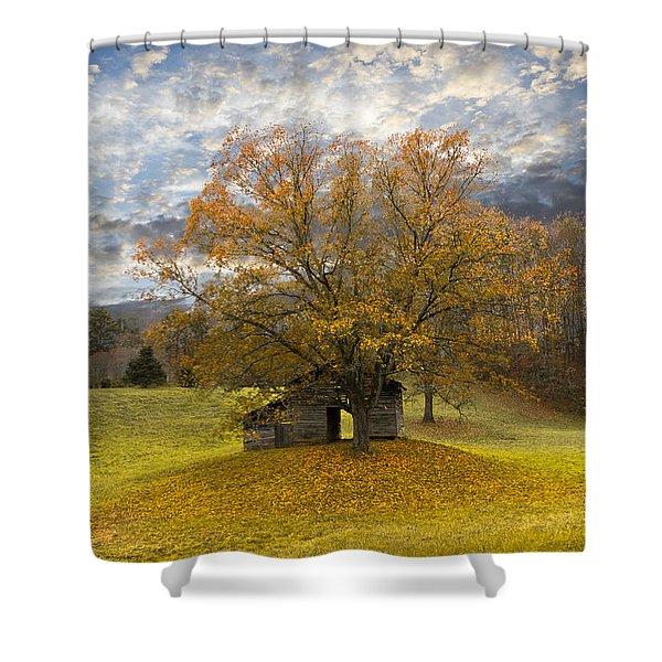 The Old Oak Tree Shower Curtain by Debra and Dave Vanderlaan