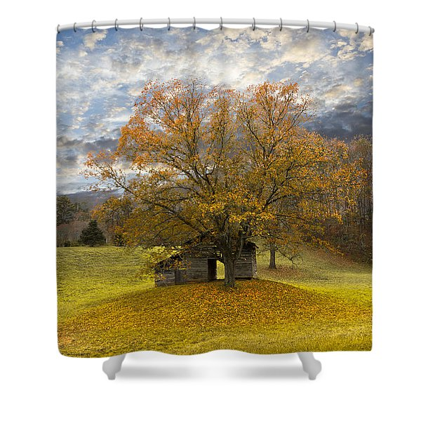 The Old Oak Tree Shower Curtain by Debra and Dave Vanderlaan