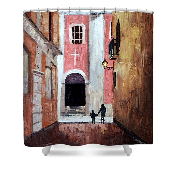 The Open Door Shower Curtain by Anthony Falbo