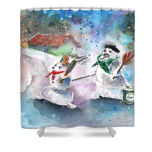 The People From The Troodos Mountains Shower Curtain by Miki De Goodaboom