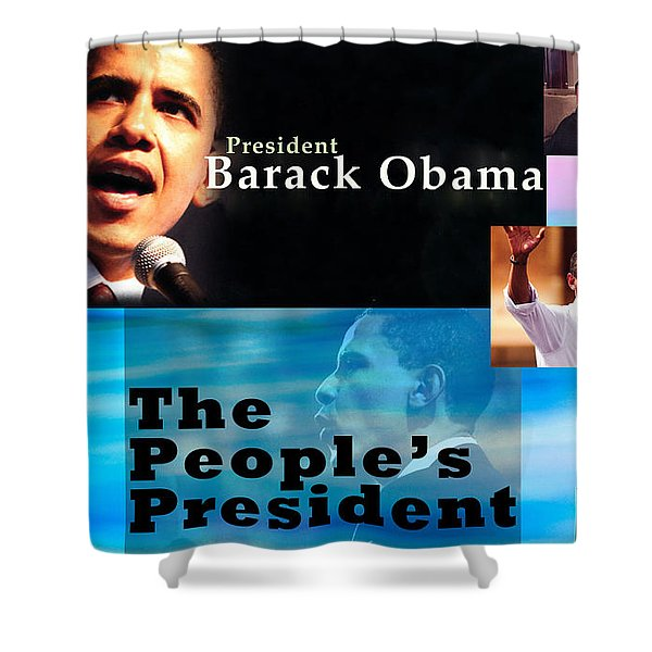 The People's President Shower Curtain by Terry Wallace