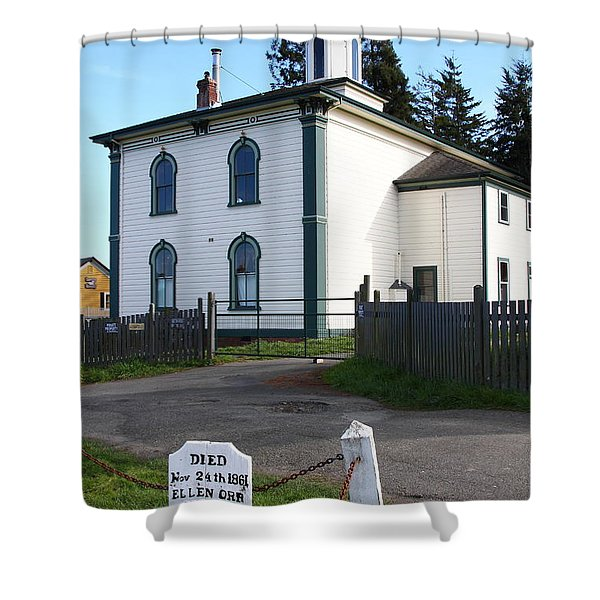 The Potter School House . Bodega Bay . Town Of Bodega . California . 7d12473 Shower Curtain by Wingsdomain Art and Photography