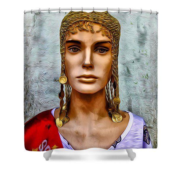 The Queen of Bourbon Street Shower Curtain by Bill Cannon