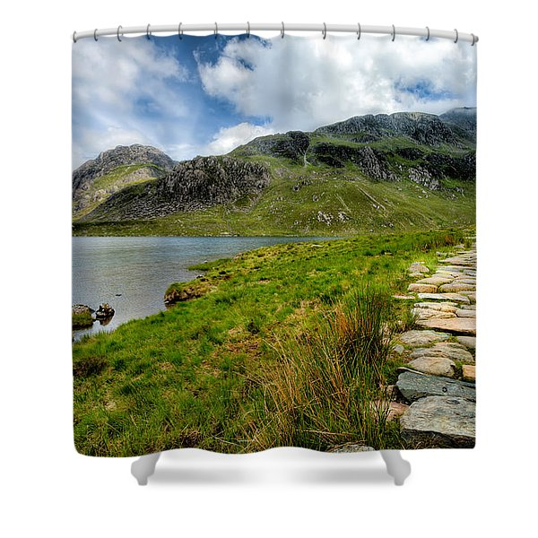 The Rocky Path Shower Curtain by Adrian Evans