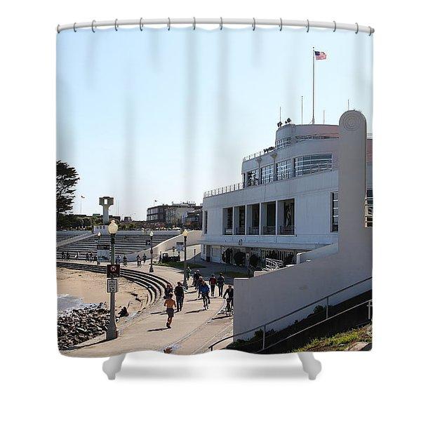 The Sala Burton Building . Maritime Museum . San Francisco California . 7D13993 Shower Curtain by Wingsdomain Art and Photography
