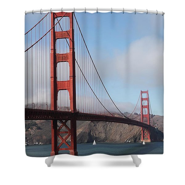 The San Francisco Golden Gate Bridge - 5D18906 Shower Curtain by Wingsdomain Art and Photography