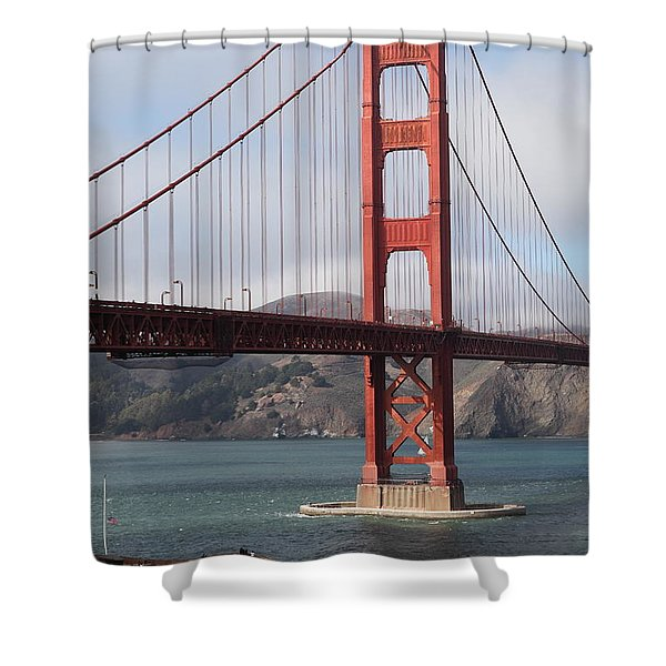 The San Francisco Golden Gate Bridge - 5D18911 Shower Curtain by Wingsdomain Art and Photography
