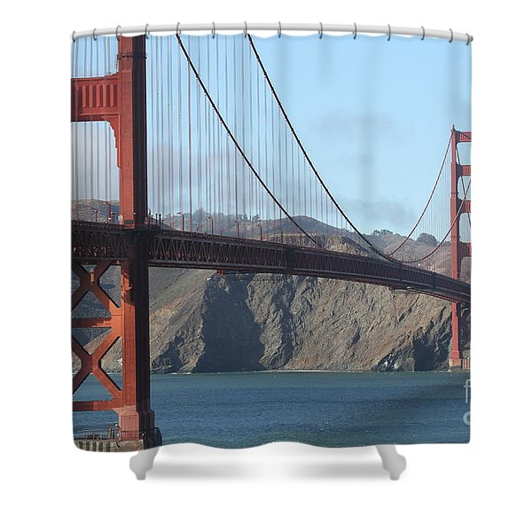 The San Francisco Golden Gate Bridge - 7d19184 Shower Curtain by Wingsdomain Art and Photography