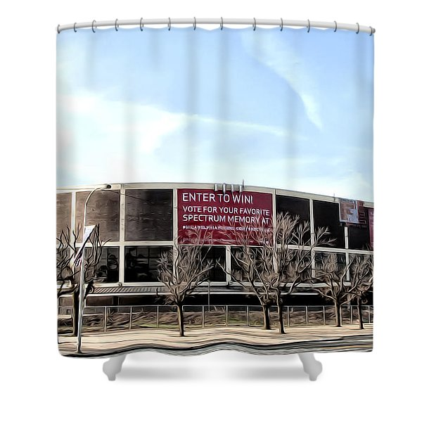 The Spectum In Philadelphia Shower Curtain by Bill Cannon