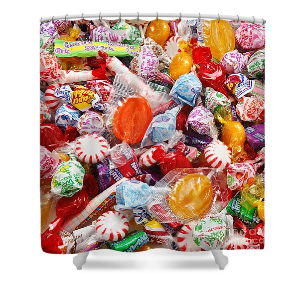 The Sugar Rush Square Shower Curtain by Andee Design