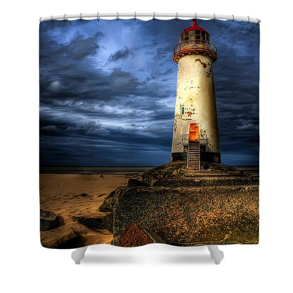 The Talacre Lighthouse Shower Curtain by Adrian Evans