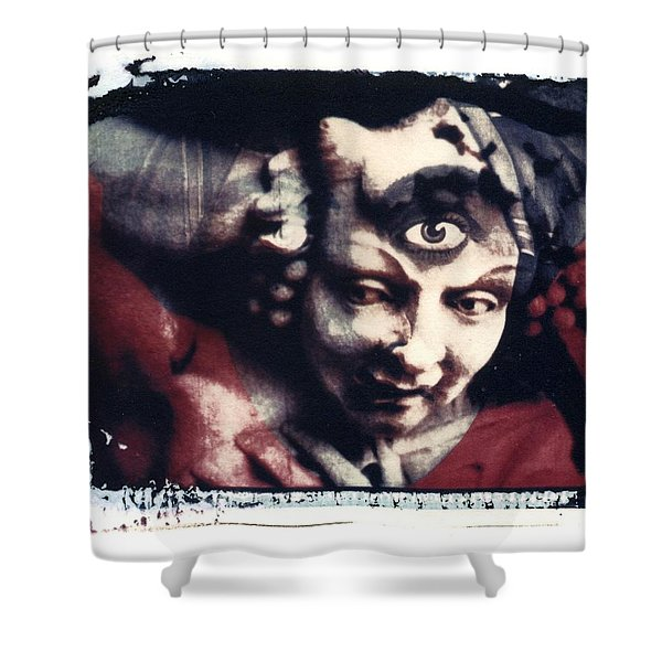 The Third Eye Polaroid transfer Shower Curtain by Jane Linders
