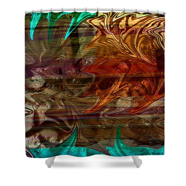 The Train Wreck Shower Curtain by Robert Meanor