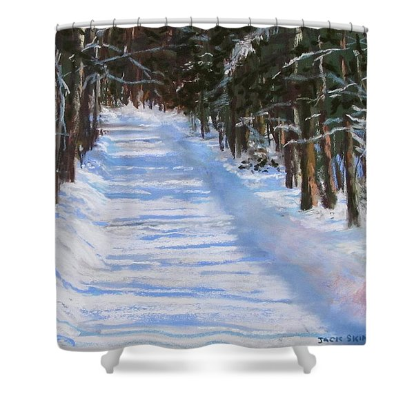 The Valley Road Shower Curtain by Jack Skinner