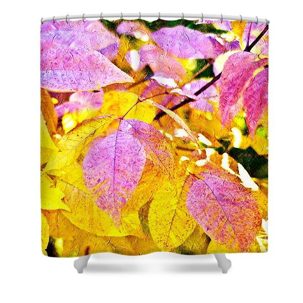 The Warm Glow In Autumn Abstract Shower Curtain by Andee Design
