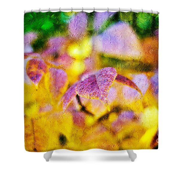 The Warmth of Autumn Glow Abstract Shower Curtain by Andee Design