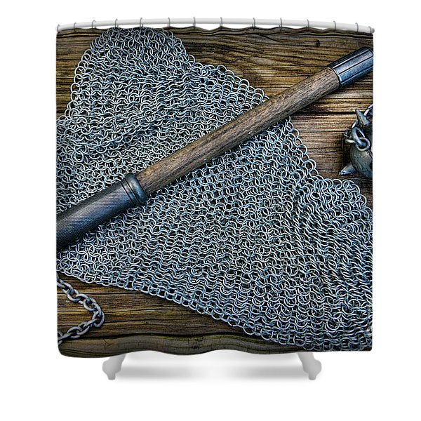 The Warriors Mace Shower Curtain by Paul Ward
