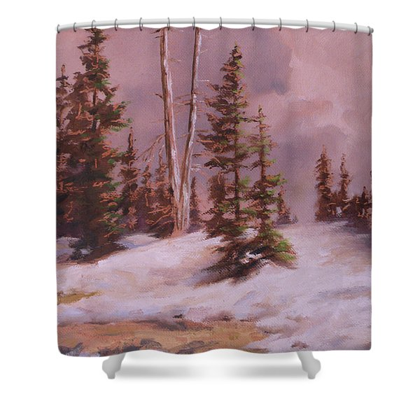 The Wasatch Divide Plein Air Shower Curtain by Mia DeLode