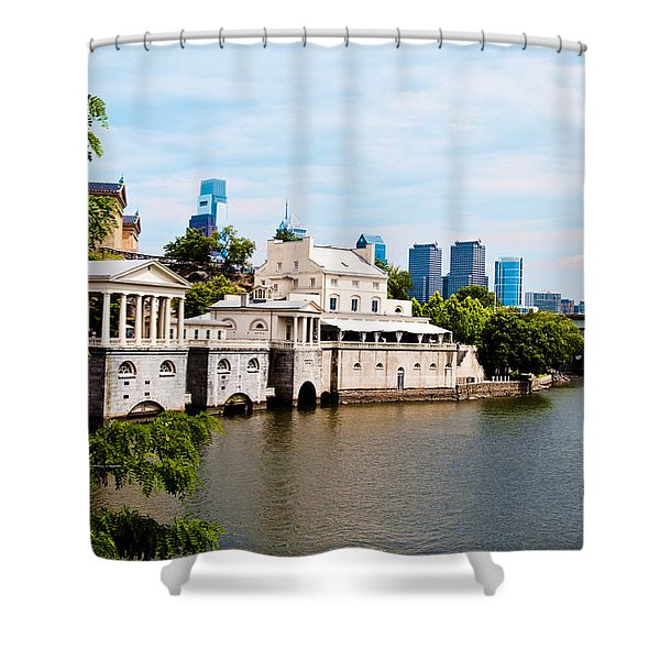 The WaterWorks in Spring Shower Curtain by Bill Cannon