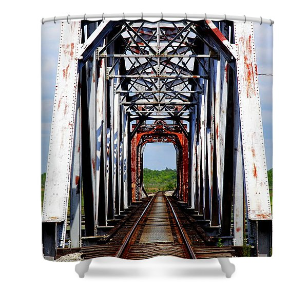 The Way is Clear Shower Curtain by KAREN WILES