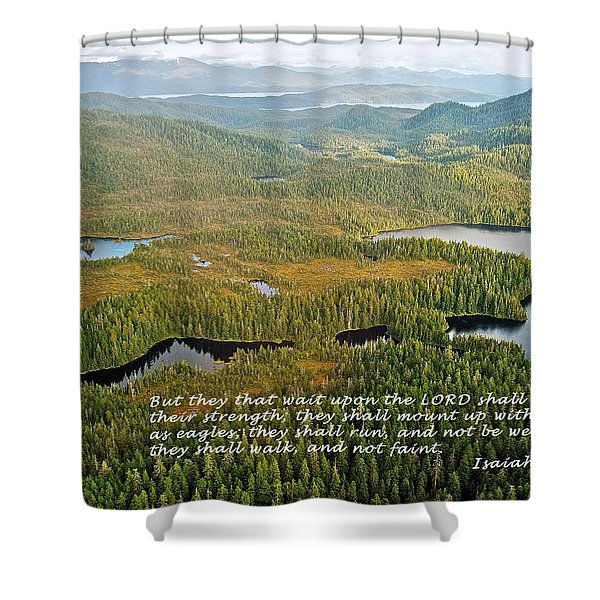 They That Wait 8995 Shower Curtain by Michael Peychich