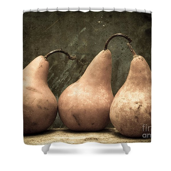 Three Pear Shower Curtain by Edward Fielding