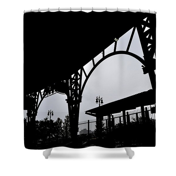 Tiger Stadium Silhouette Shower Curtain by Michelle Calkins