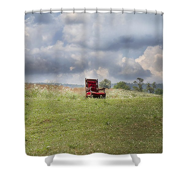 Time Alone Shower Curtain by Betsy C  Knapp