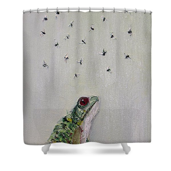 TO SAVE THEIR SMALL LIVES FROM SURROUNDING DEATH Shower Curtain by Fabrizio Cassetta