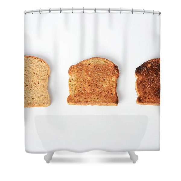 Toasting Bread Shower Curtain by Photo Researchers, Inc.