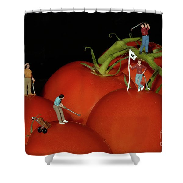 Tomato Beach Golf Classsic Shower Curtain by Bob Christopher