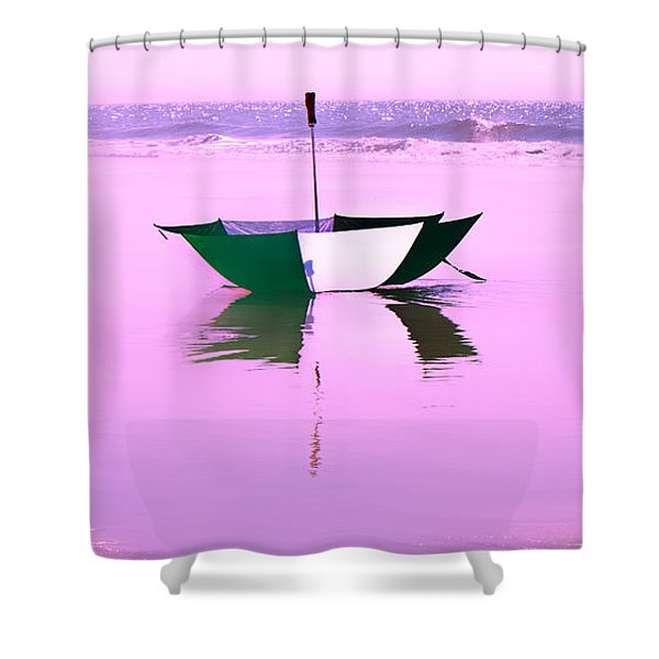 Topsail Drifting Shower Curtain by Betsy C  Knapp