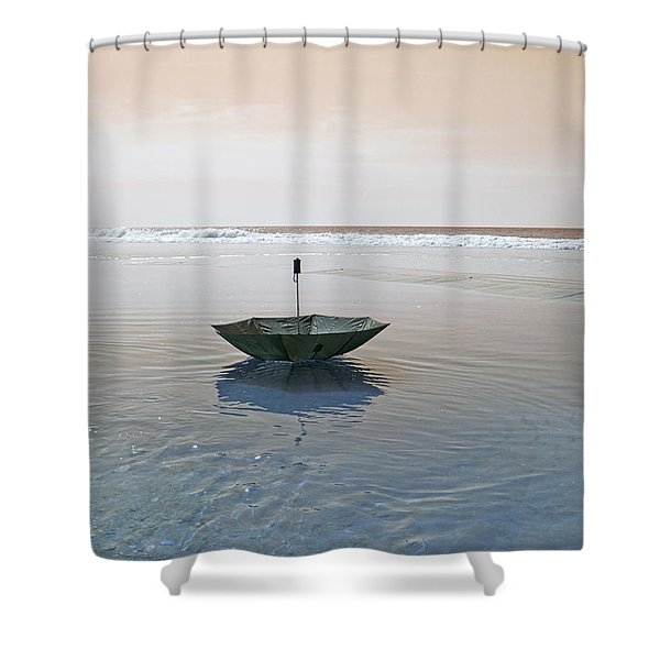Topsail Floating Umbrella Shower Curtain by Betsy C  Knapp