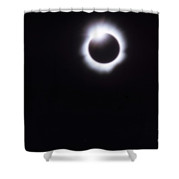 Total Solar Eclipse Shower Curtain by Photo Researchers