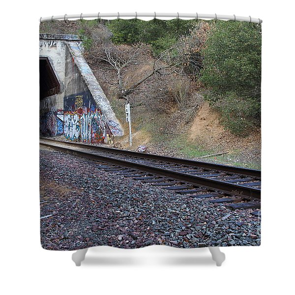 Train Tunnel At The Muir Trestle in Martinez California . 7D10228 Shower Curtain by Wingsdomain Art and Photography