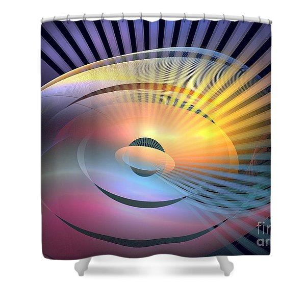 Transitory Shower Curtain by Kim Sy Ok