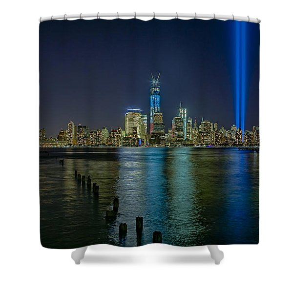 Tribute In Lights Shower Curtain by Susan Candelario