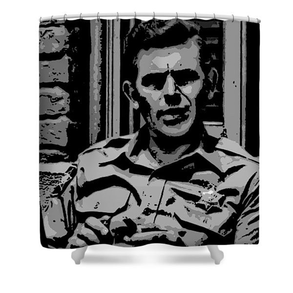 Tribute to Andy Shower Curtain by George Pedro
