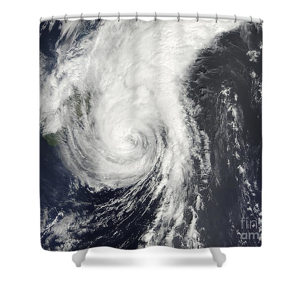 Tropical Storm Krovanh Shower Curtain by Stocktrek Images