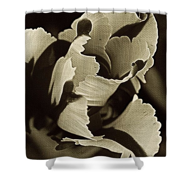 Tulip Whirled Shower Curtain by Chris Berry