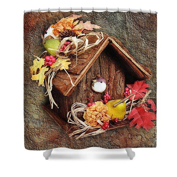 Tweet Little Bird House Shower Curtain by Andee Design