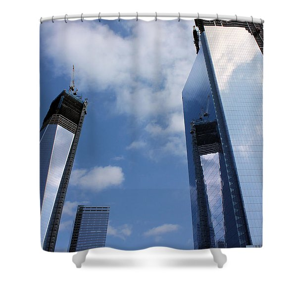 Twin Towers Shower Curtain by Kristin Elmquist