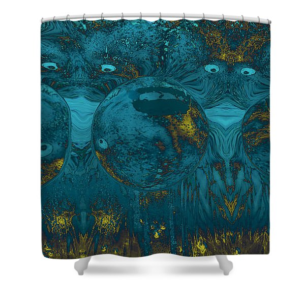 Two of a Kind Shower Curtain by Linda Sannuti